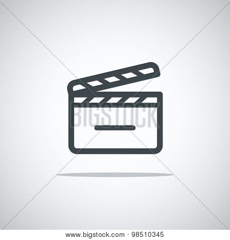 Modern media web icon. Movie clap