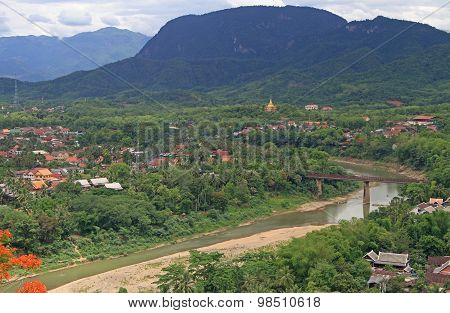 view of Luang Prabang from Phousi mountain