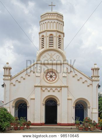 catholic cathedral in Savannakhet, Laos