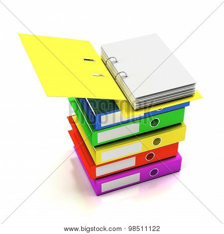 Stack of folders