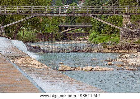 Wooden bridges.