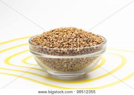 buckwheat in a glass bowl