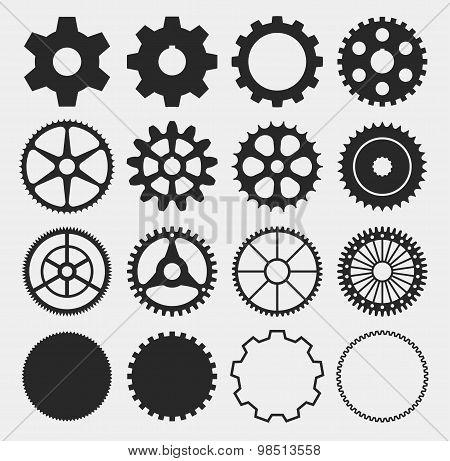 vector gear silhouettes