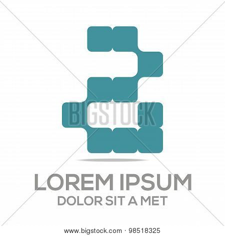 Logo alphabet number business collection vector