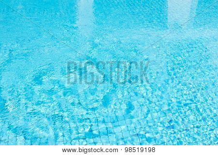 Ripple Water In Blue Swimming Pool