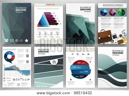 Abstract Business Backgrounds, Concept Infographics And Icons