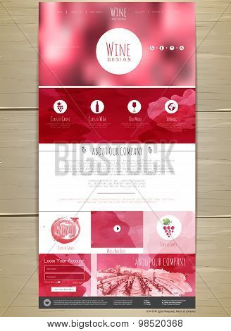 Wine Concept Web Site Design. Corporate Identity