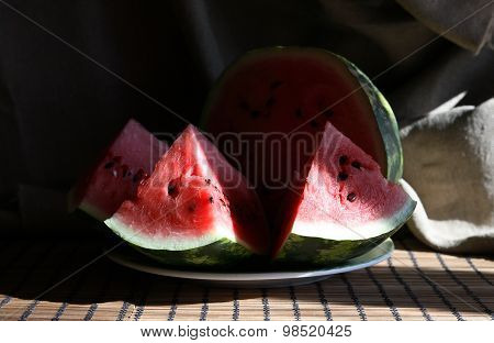 Watermelon Under Sunlight