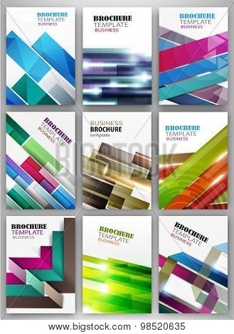 Abstract Striped Background Set