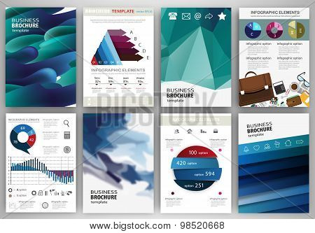 Abstract Blue Backgrounds, Concept Infographics And Icons