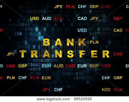 Money concept: Bank Transfer on Digital background