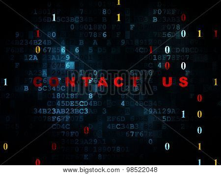 Finance concept: Contact us on Digital background