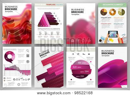 Pink Backgrounds And Abstract Concept Infographics And Icons