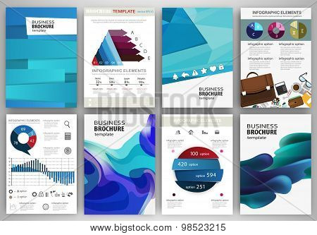 Blue Backgrounds And Abstract Concept Infographics And Icons