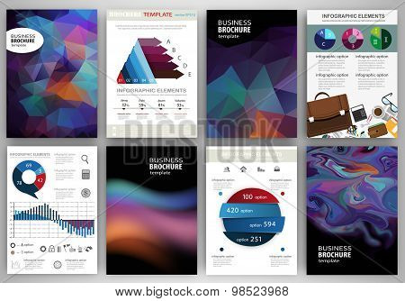 Abstract Backgrounds, Concept Infographics And Icons