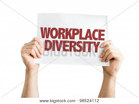 Workplace Diversity card isolated on white