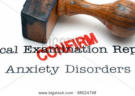 Anxiety Disorder Confirm