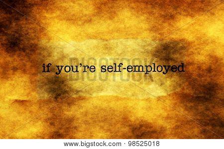 Self Employed Grunge Concept