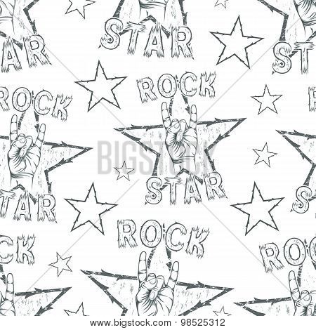 Rock Star seamless pattern.