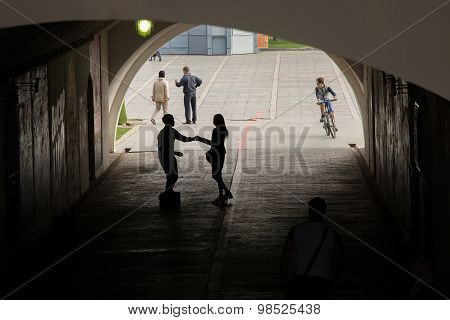 People In The Underpass
