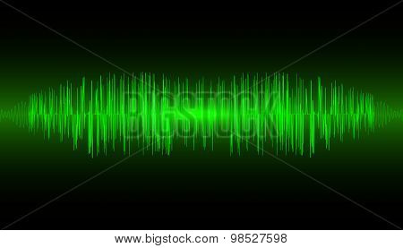 Abstract Music Equalizer Waveform. Vector Illustration