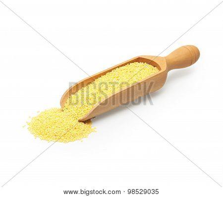 the millet in scoop