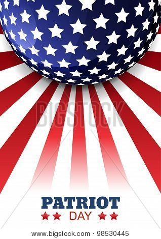 Patriot Day Of Usa Or Independence Day. Vector Abstract Flag Background With Place For Text.