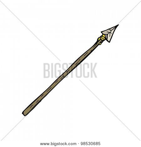 cartoon primitive spear