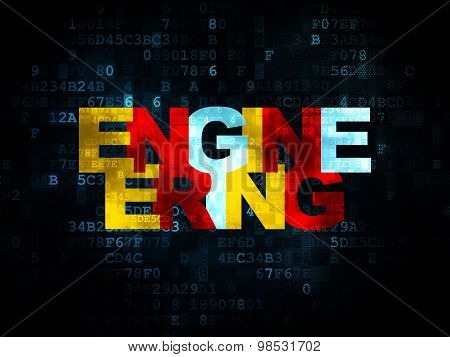 Science concept: Engineering on Digital background