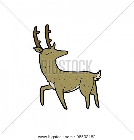 cartoon stag