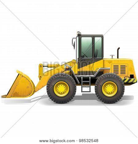 Vector Old Bulldozer