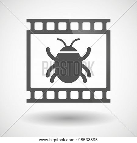 Photographic Film Icon With A Bug