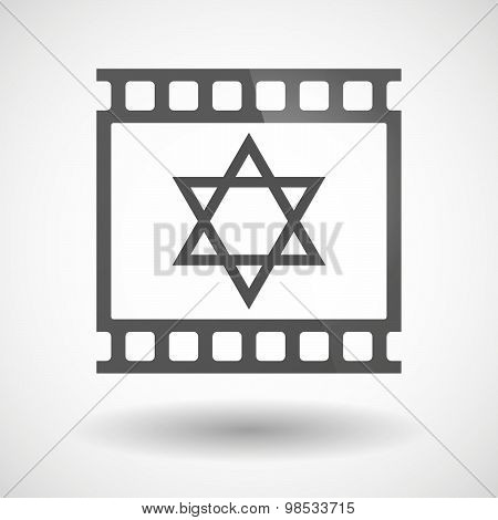 Photographic Film Icon With A David Star
