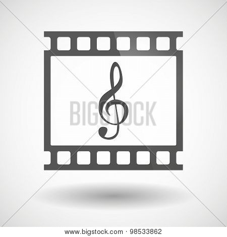 Photographic Film Icon With A G Clef