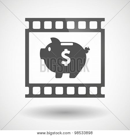 Photographic Film Icon With A Piggy Bank