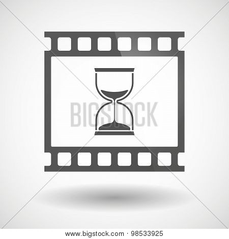 Photographic Film Icon With A Sand Clock