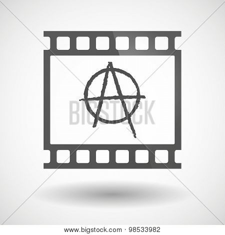 Photographic Film Icon With An Anarchy Sign
