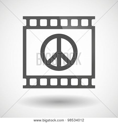 Photographic Film Icon With A Peace Sign