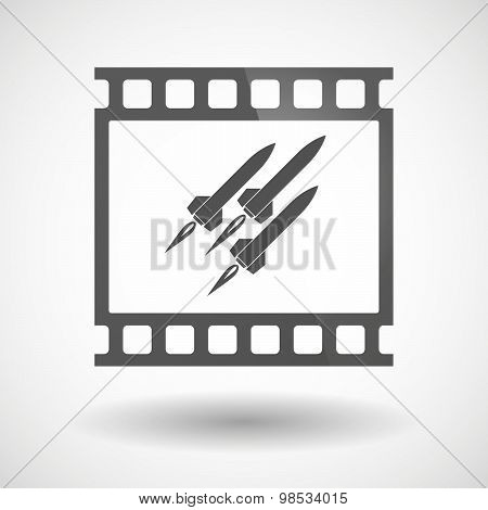 Photographic Film Icon With Missiles