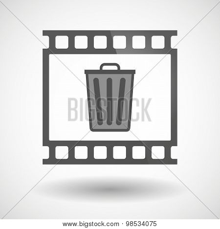 Photographic Film Icon With A Trash Can