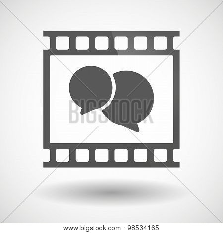 Photographic Film Icon With A Comic Balloon