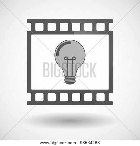 Photographic Film Icon With A Light Bulb