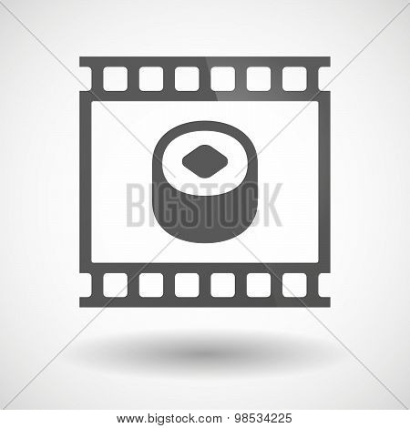 Photographic Film Icon With A Piece Of Sushi