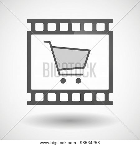 Photographic Film Icon With A Shopping Cart