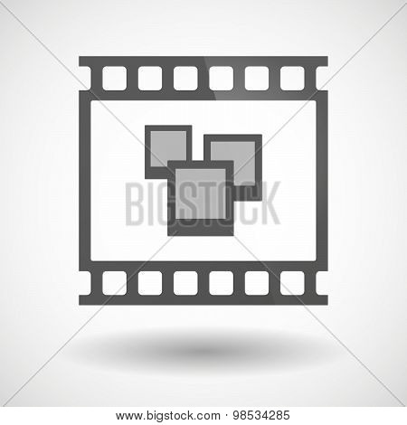 Photographic Film Icon With A Few Photos