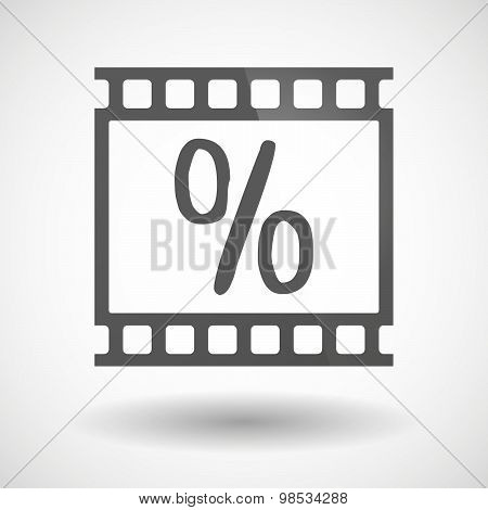 Photographic Film Icon With A Discount Sign