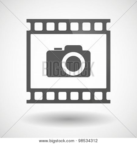 Photographic Film Icon With A Photo Camera