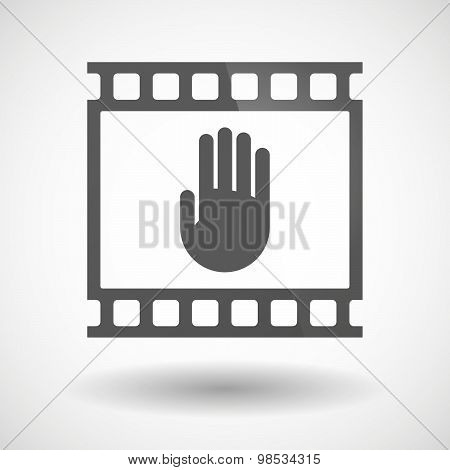 Photographic Film Icon With A Hand