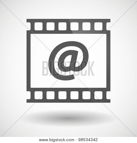 Photographic Film Icon With An At Sign