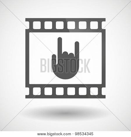 Photographic Film Icon With A Rocking Hand